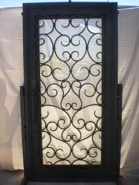 Hand Forged Scroll Work 18 Door Pull