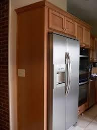 Built In Refrigerator Cabinet With One Side Panel