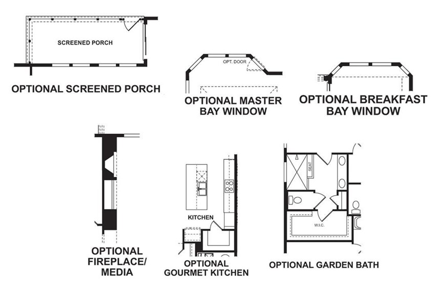 Floorplan - First Floor Options