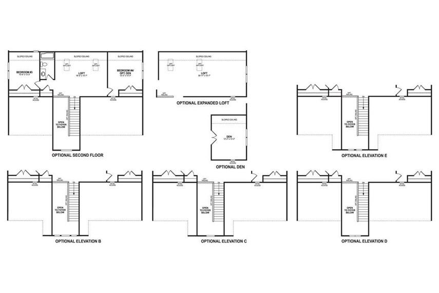 Floorplan - Second Floor Options