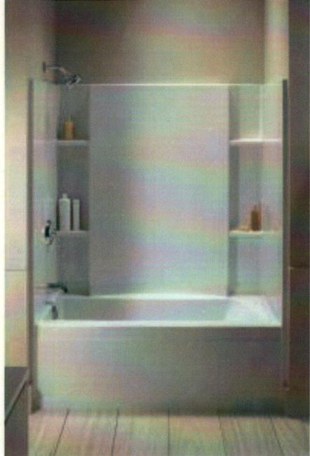 Exceptional *Standard White Sterling Accord 4 Piece Tub/Shower Unit In Owners Bath