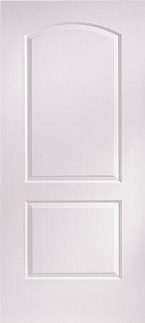 2-Panel Roman Arch Top Masonite Door