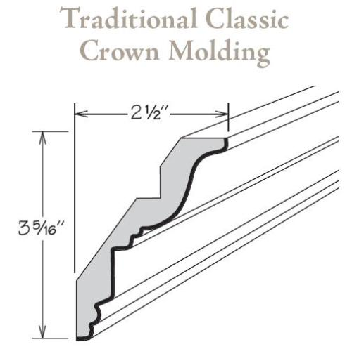 Tccm8 Traditional Clic Crown Molding