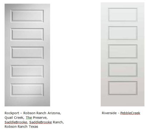 5 Panel Interior Door, Painted (or 6 Panel Depending On Door Height)